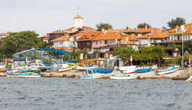 Bulgaria: Fishing boats on the Nessebar Stock Photo