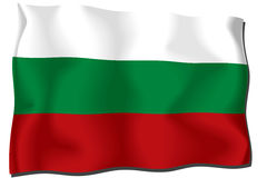 Bulgaria Flag. Computer generated illustration of the flag of Bulgaria with silky appearance and waves Vector Illustration