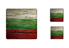 Bulgaria Flag Buttons Royalty Free Stock Image