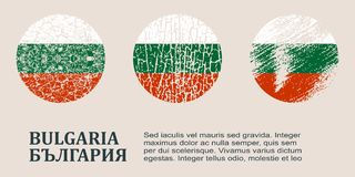 Bulgaria flag design concept Royalty Free Stock Images