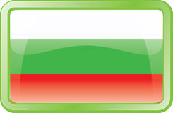 Bulgaria Flag Icon Stock Photography