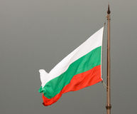Flag Bulgaria on the memorial to the Heroes of Shipka Stock Image