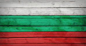 Bulgaria flag painted on wooden boards Royalty Free Stock Photo