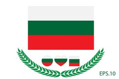Bulgaria Flag vector illustration. Bulgaria Flag. Royalty Free Stock Photo