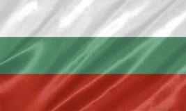Bulgaria Flag. Waving on satin texture vector illustration