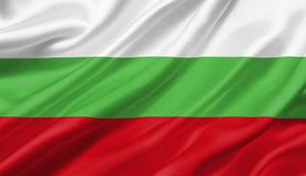 Bulgaria flag waving with the wind, 3D illustration. 3D rendering Stock Images