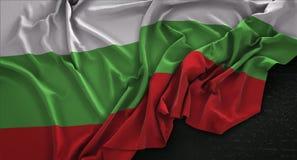 Bulgaria Flag Wrinkled On Dark Background 3D Render Royalty Free Stock Images