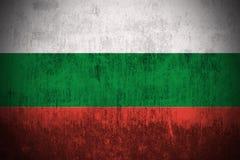 bulgaria flaggagrunge Arkivfoton