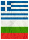 bulgaria flags greece royaltyfri illustrationer