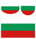Bulgaria flags. Vector file of Bulgaria flags Stock Image