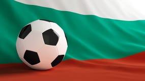 Bulgaria football. Soccer ball on the flag of Bulgaria Stock Photos