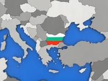 Bulgaria on globe Royalty Free Stock Photography