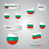 Bulgaria icon set of flags Stock Photo