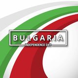 Bulgaria Independence Day abstract background. For web design and application interface, also useful for infographics. Vector illustration Stock Photo