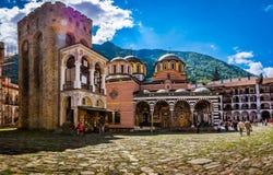 bulgaria klosterrila royaltyfria bilder