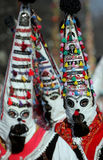 Bulgaria Kukeri Masquerade. Unidentified men with traditional Kukeri mask Royalty Free Stock Images