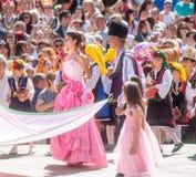 bulgaria La regina è aumentato nel quadrato centrale di Karlovo Fotografia Stock