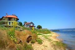 Bulgarian lake resort view Stock Photos