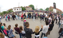 Bulgaria. Large rural dance on Nestenar games in the village of Bulgarians Stock Photography