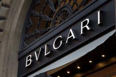 Bulgaria logo na Bulgari sklepie zdjęcia stock