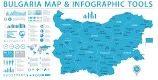 Bulgaria Map - Info Graphic Vector Illustration Vector Illustration