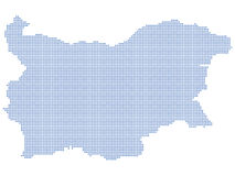 Bulgaria map dots Royalty Free Stock Photos