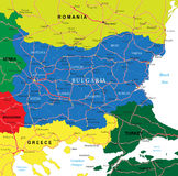 Bulgaria map Stock Photography