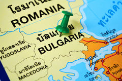 Bulgaria map Stock Image