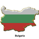 Bulgaria metal pin badge Stock Photos