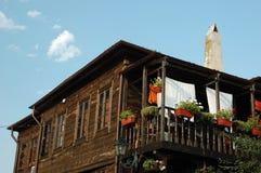 bulgaria mieści nesebar stary tradycyjny drewnianego Zdjęcia Royalty Free