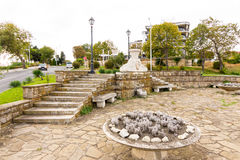 Bulgaria: The monument at the entrance to the old Nessebar Royalty Free Stock Images