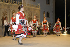 Bulgaria musical dance group. BATALHA, PORTUGAL - AUGUST 14: International Festival Foclorico Ranch Rythm , Bulgaria musical dance group active in the party town Stock Images