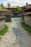 Bulgaria. The narrow winding street Royalty Free Stock Photos