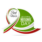 Bulgaria National Day. Vector illustration of National Day of Bulgaria 3 March Celebration background Stock Photo