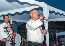 Bulgaria. National singer at the Nestenar Games in the village of Bulgarians Stock Images