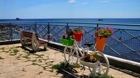 bulgaria nesebar Stara grodzka rower sztuka Obraz Stock