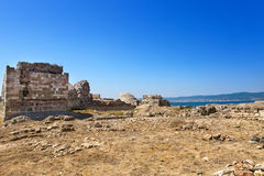 Bulgaria. Nesebr. Ruins of ancient church Royalty Free Stock Photo