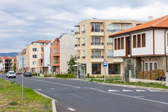 Bulgaria: new Development in Ravda. Ravda - ancient Bulgarian seaside town famous discoveries of ancient Slavic settlements. Located on the past in the Black Sea royalty free stock image