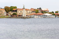 Bulgaria: Old Nessebar from the sea Stock Image