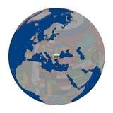 Bulgaria on political globe Stock Photos