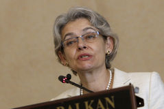 Bulgaria Politics Irina Bokova Royalty Free Stock Photo