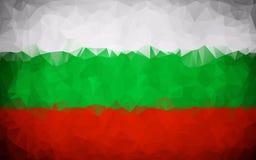 Bulgaria polygon flag texture. Background Royalty Free Stock Photography