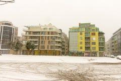 Bulgaria: Pomorie buildings, 31 december Stock Images