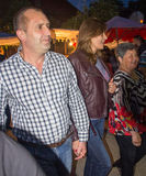 Bulgaria. President of the country with his wife at the Nestenar Games in the village of Bulgarians Royalty Free Stock Photos