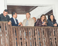 Bulgaria. President Rumen Radev with his wife and associates on Nestenar games in the village of Bulgarians Stock Photo