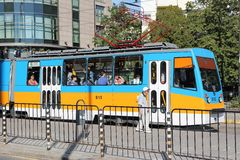 Bulgaria public transport Stock Photos