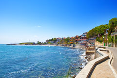 Bulgaria. Quay in the city of Nesebr.An old city Royalty Free Stock Photography