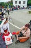 bulgaria Représentants de la presse aux jeux de Nestinar dans le village des Bulgares Photo libre de droits