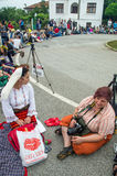 Bulgaria. Representatives of the press at the Nestinar Games in the village of Bulgarians Royalty Free Stock Photo