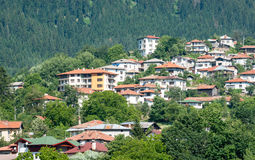 Bulgaria. The residential area on the slopes of the Rhodopes Smolyan Stock Photo
